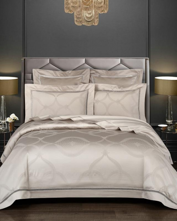 Arden Duvet Cover Set (Egyptian Cotton, 1000 TC) - Roomie Design