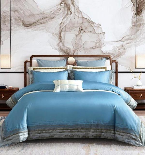 Calm Sea Duvet Cover Set (Egyptian Cotton, 1000 TC) - Roomie Design