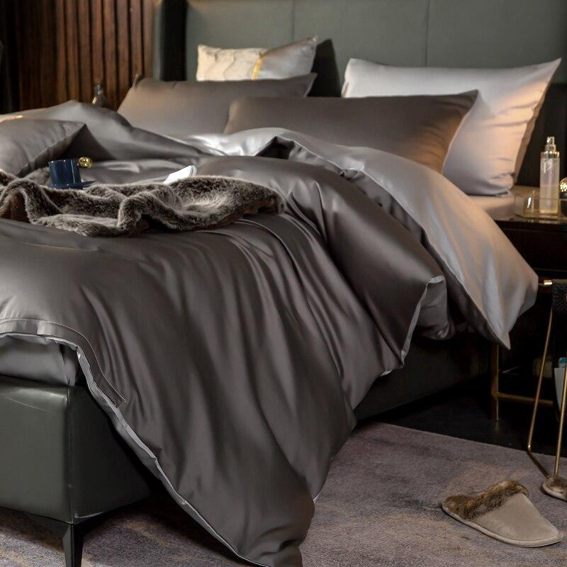 Reversible Duvet Cover Set (Egyptian Cotton, 600 TC) - Roomie Design