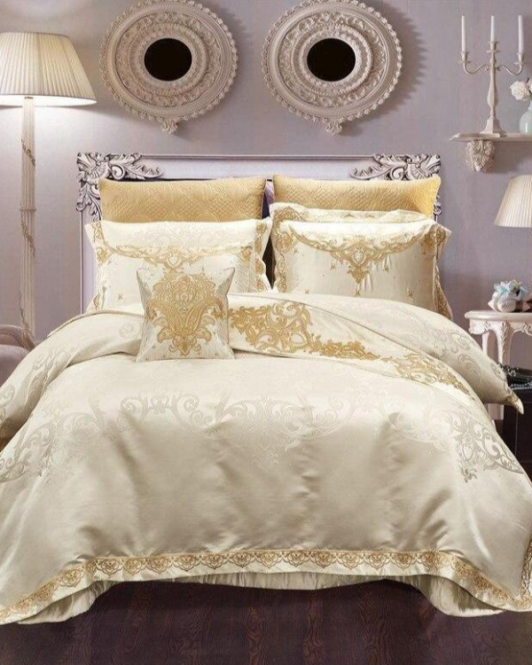 Rovenia Luxury Satin Cotton Duvet Cover Set - Venetto DesignKing