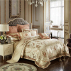 Deoniso Gold Luxury Satin Jacquard Duvet Cover Set - Venetto Design