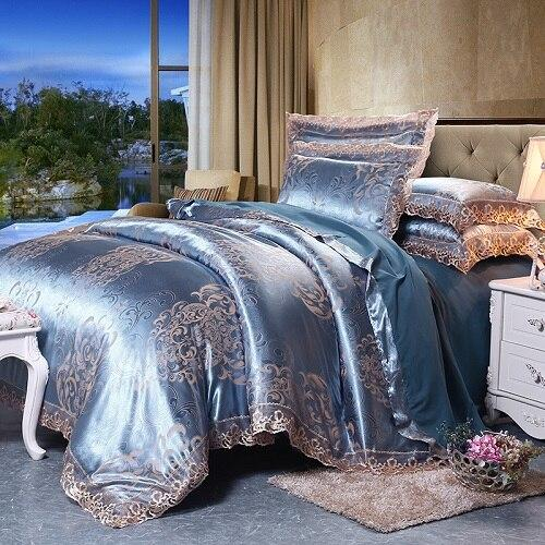Fateena Silver Brown Luxury Satin, Brown Luxury Bedding Sets