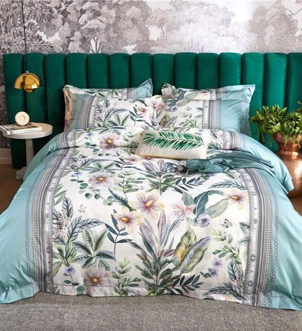 Treviza Botanical Egyptian Cotton Luxury Soft Duvet Cover Set - Venetto Design